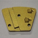 Trapezoid PCD Tipped Diamond Grinding Plates for stone and concrete